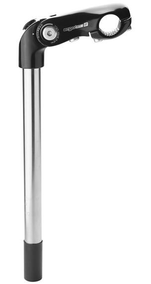 Humpert Kobra Vario Tube Vario frempind Ø 22,2 L=300 Kle=25,4 mm sort/sølv